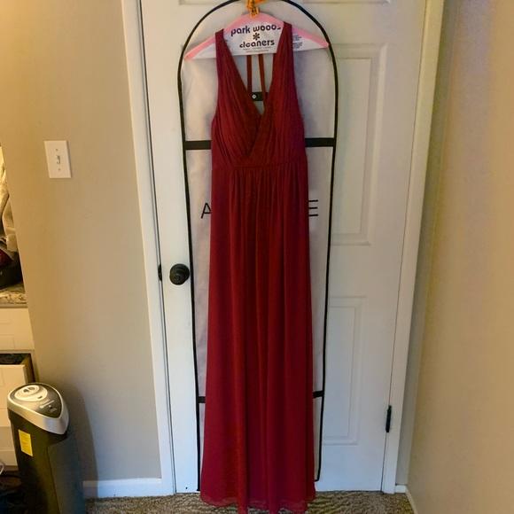 Azazie Dresses & Skirts - Azazie Athena Maternity Burgundy Dress